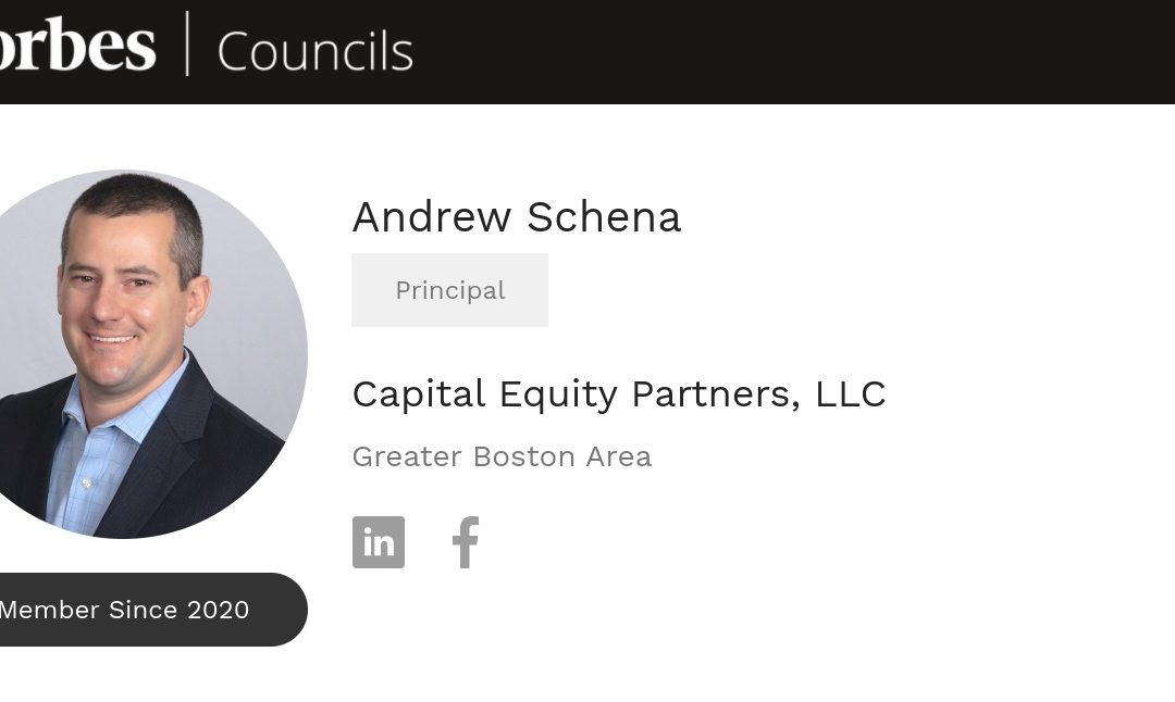 Andrew Schena of Capital Equity Partners, LLC accepted into Forbes Real Estate Council